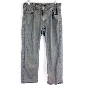 Levi's 569 Straight Leg Relaxed Fit Men's Gray Jeans 32 x 30